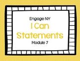 Eureka Math (Engage NY) Module 7 I Can Statements