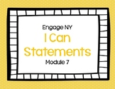 I Can Statements Eureka Math (Engage NY) Module 7