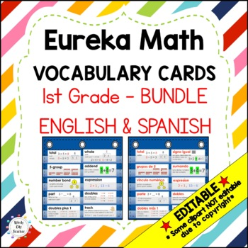 Eureka Math/Engage NY - ENGLISH and SPANISH Vocabulary 1st Grade Modules 1-6