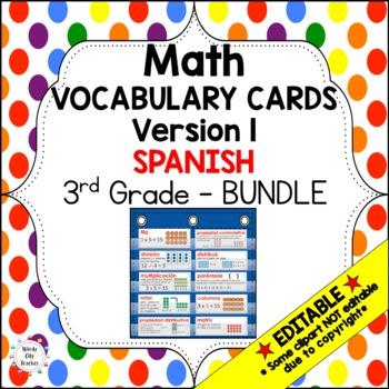 Eureka Math / Engage NY - SPANISH Vocab 3rd Grade Bundle Modules 1-7:Common Core