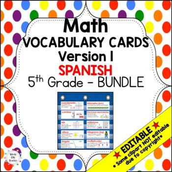 Eureka Math / Engage NY - SPANISH Vocab 5th Grade Bundle Modules 1-6:Common Core