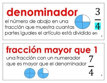 Eureka Math / Engage NY - SPANISH Vocabulary 4th Grade Module 5 - RED Font