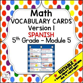 Eureka Math / Engage NY - SPANISH Vocabulary 5th Grade Module 5 Common Core