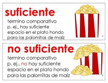 Eureka Math / Engage NY - SPANISH Vocabulary Kindergarten Module 3 - RED Font