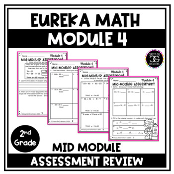 Eureka Math Engage NY Second Grade Module 4 Mid-Module Assessment and Review