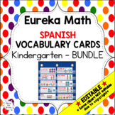 Eureka Math/Engage NY - Spanish Vocab Kindergarten BUNDLE Module 1-6: Green Font