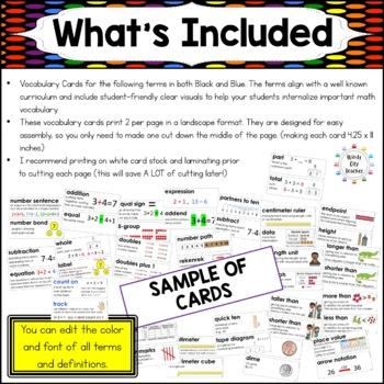 Eureka Math / Engage NY - Vocab 1st Grade Bundle Modules 1-6:Common Core Aligned