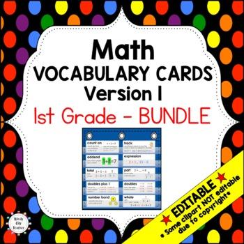 Eureka Math / Engage NY - Vocab 1st Grade Bundle Modules 1