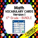 Eureka Math / Engage NY - Vocabulary 6th Grade Bundle Modules 1-6