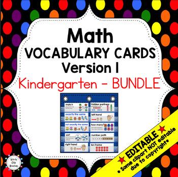 Eureka Math / Engage NY - Vocab Kindergarten Bundle Modules 1-6:Common Core
