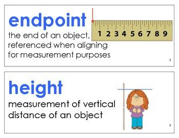 Eureka Math / Engage NY - Vocabulary 1st Grade Module 3 - Vocab Words in Blue