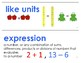Eureka Math / Engage NY - Vocabulary 2nd Grade Module 1 - Vocab Words in Blue