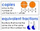 Eureka Math / Engage NY - Vocabulary 3rd Grade Module 5 - Vocab Words in Blue