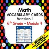 Eureka Math / Engage NY - Vocabulary 6th Grade Module 4 - Vocabulary Words