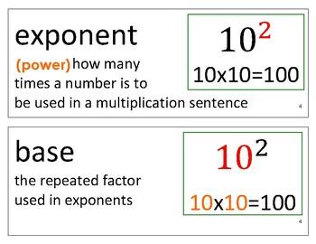 Eureka Math / Engage NY - Vocabulary 6th Grade Module 4 - Vocab Words in Black