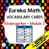Eureka Math / Engage NY - Vocabulary Kindergarten Module 2 -Vocab Words in Black