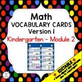 Eureka Math / Engage NY - Vocabulary Kindergarten Module 2 -Vocabulary Words