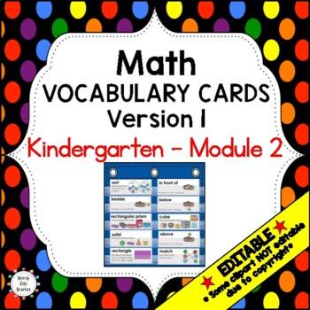 Eureka Math / Engage NY - Vocabulary Kindergarten Module 2