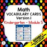 Eureka Math / Engage NY - Vocabulary Kindergarten Module 5 -Vocabulary Words