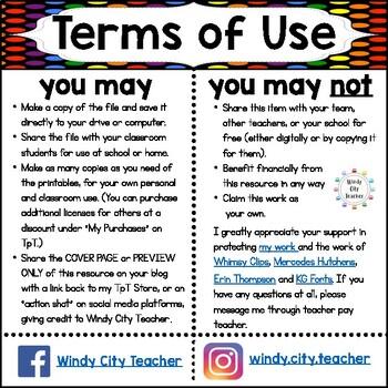 Eureka Math / Engage NY - Vocabulary Pre-K Grade Module 2 - Vocab Words in Black