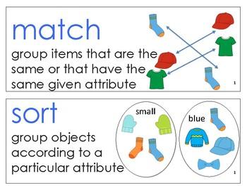 Eureka Math / Engage NY - Vocabulary Pre-K Grade Module 1 - Vocab Words in Blue