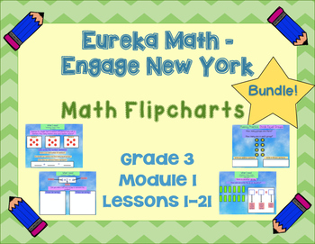 Eureka Math - Engage New York - 3rd Grade Module 1: Flipcharts for Lessons 1-21!
