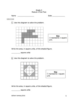 Eureka Math/Engage New York Grade 3: Combined Pretest and Posttest Bundle