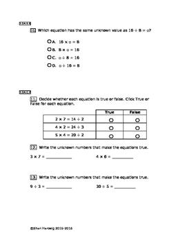 Eureka Math/Engage New York Grade 3:  Module 1 Posttest