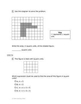 Eureka Math/Engage New York Grade 3:  Module 4 Pretest