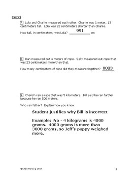 Eureka Math/Engage New York Grade 4:  Module 2 Posttest