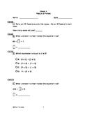 Eureka Math/Engage New York Grade 4:  Module 3 Pretest