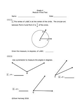 Eureka Math/Engage New York Grade 4: Posttest Bundle