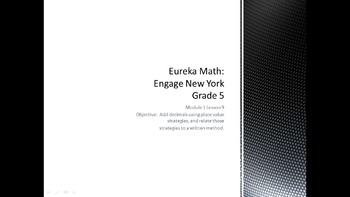 Eureka Math/Engage New York Grade 5 Module 1 Lesson 9