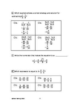 Eureka Math/Engage New York Grade 5:  Module 3 Posttest