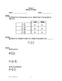 Eureka Math/Engage New York Grade 5:  Module 3 Pretest