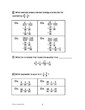 Eureka Math/Engage New York Grade 5:  Module 3 Pretest