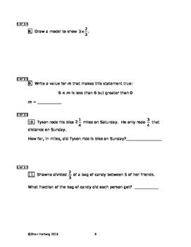 Eureka Math/Engage New York Grade 5:  Module 4 Pretest