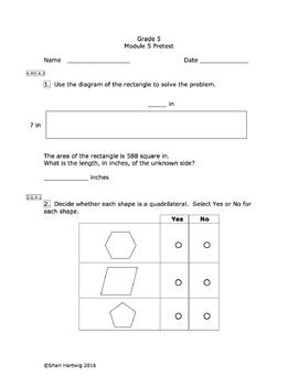 Eureka Math/Engage New York Grade 5: Pretest Bundle