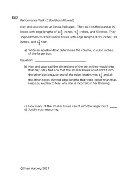 Eureka Math/Engage New York Grade 6:  Module 5 Posttest