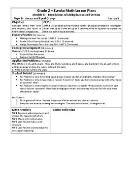 Eureka Math / Engage New York LESSON PLANS, 2nd Grade - Module 6