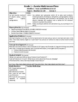 Eureka Math / Engage New York LESSON PLANS, First Grade - Module 5