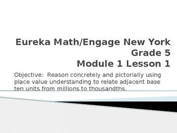 Eureka Math/Engage New York Module 1 Lesson 1 PowerPoint Presentation