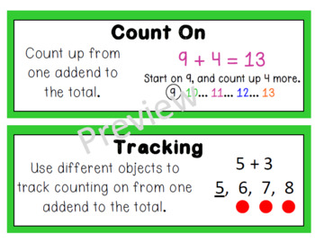 Eureka Math (Engage New York) Vocabulary Cards 1st Grade Module 1