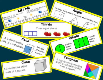 Eureka Math (Engage New York) Vocabulary Cards 2nd Grade Bundle Modules 1-8