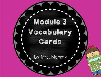 Eureka Math (Engage New York) Vocabulary Cards 2nd Grade Module 3