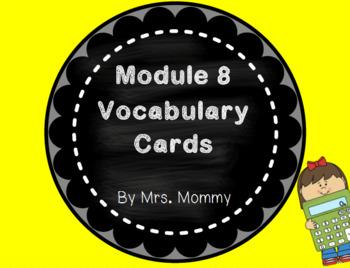 Eureka Math (Engage New York) Vocabulary Cards 2nd Grade Module 8