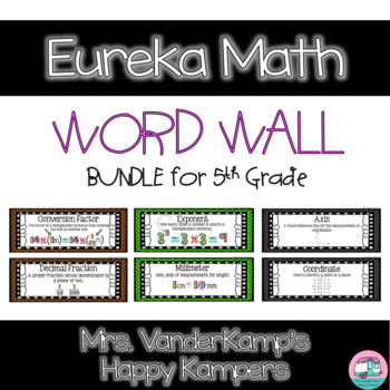 Eureka Math EngageNY 5th Grade Word Wall BUNDLE
