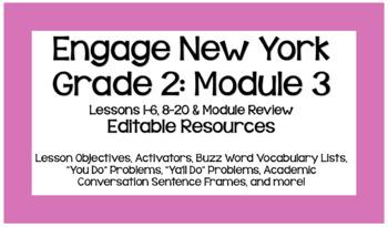 Eureka Math (EngageNY) Grade 2 Module 3 Bundle - EDITABLE