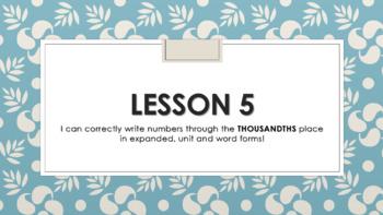 Eureka Math/EngageNY Grade 5 Module 1 Lesson 5