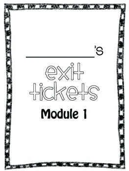 Eureka Math Exit Tickets for Grade 1